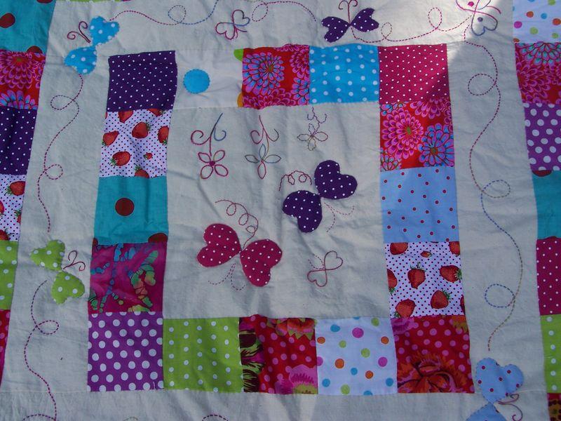 faire un couvre lit patchwork Patchwork et appliqué   Et Zou !!! voilà ZouZou faire un couvre lit patchwork