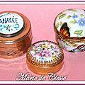 Boîtes à pilules Panacée-Bouquet de fleurs et Papillons
