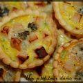 P'tites tartelettes poulet, courgette et saint agur et p'tites bouchées courgette, chorizo