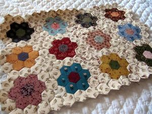MINI QUILT HEXAGONES 001