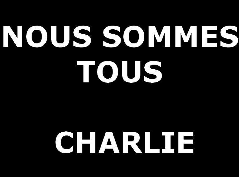 """""""NOUS SOMMES TOUS CHARLIE"""" Rendez-vous samedi 10 janvier, 10h00, Maison des Associations"""