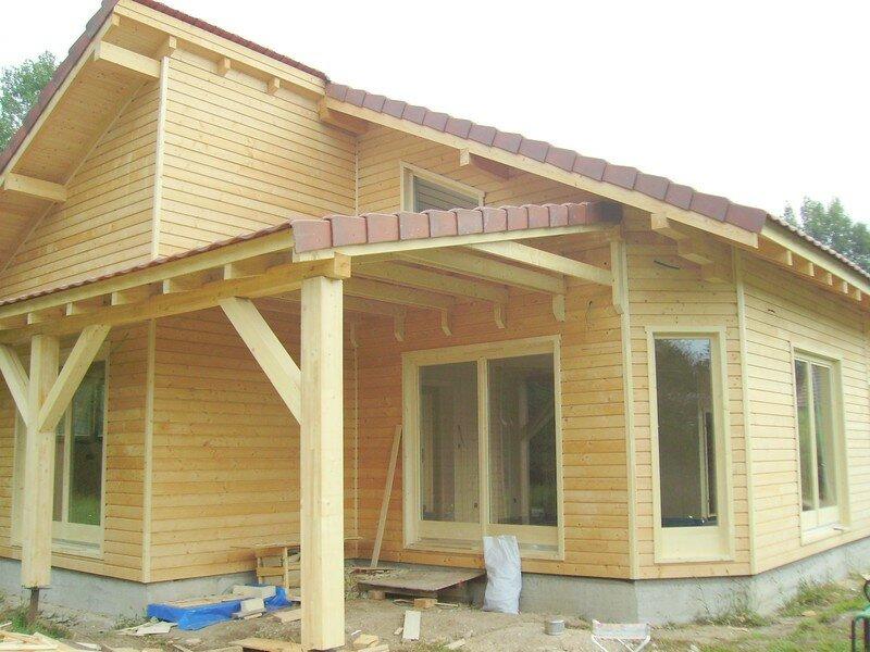 Montage Maison Ossature Bois - FIN DU MONTAGE maison ossature bois 63