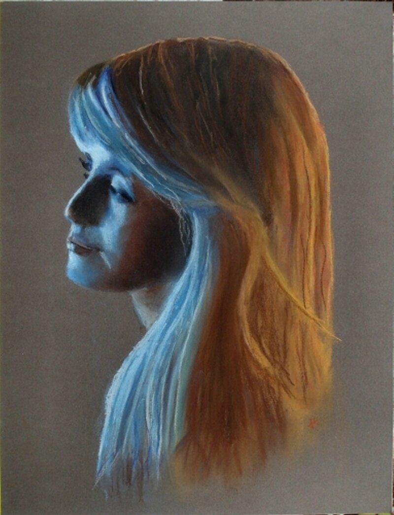 2014-Portrait bleu-30x40