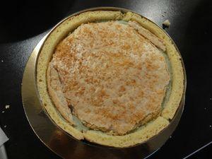 biscuit macaron sur la crème bavaroise