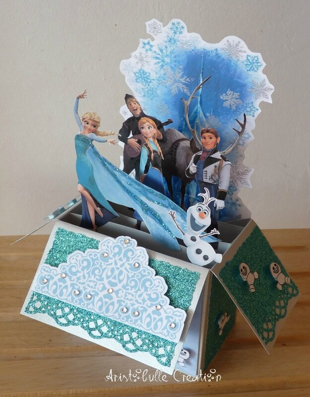 Card in a box Reine des Neiges - 10 juil 16