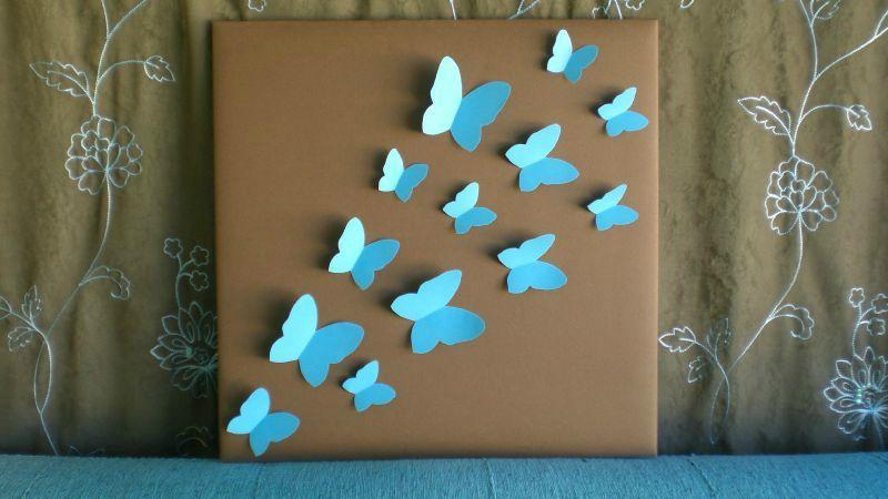 Cadre envolée de papillons