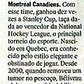 Décès de jean béliveau dans veja, revue brésilienne