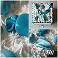 boite carré bleu bonbons