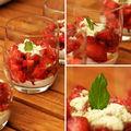 Coupes de fraises au sucre à la menthe