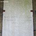 Jallais (49) – Dalle funéraire