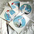 Les cigognes de Noël création Marimerveille