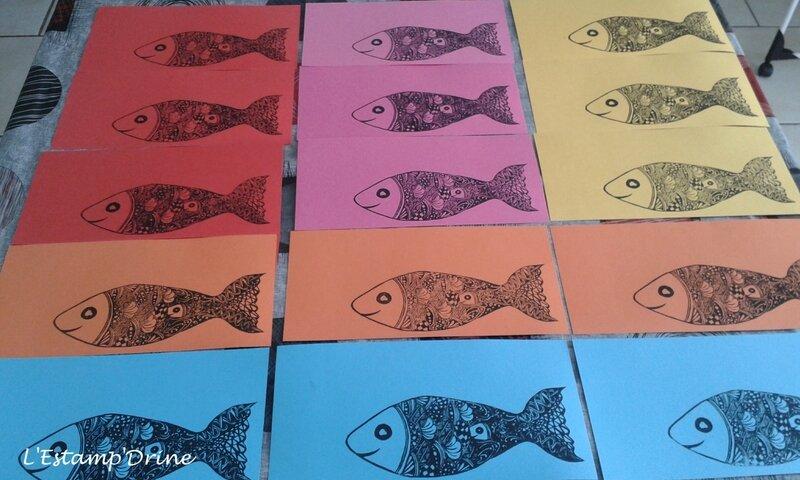 linogravure poisson avril impression carte (3)