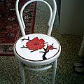 - quand je peignais des meubles -chaises - buffet - table de toilette -
