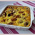 Clafoutis de poulet au curry et banane