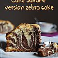 "Cake ""savane"" mais version zebra cake"