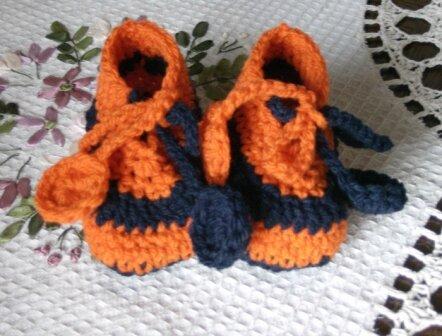 chausson marine et orange