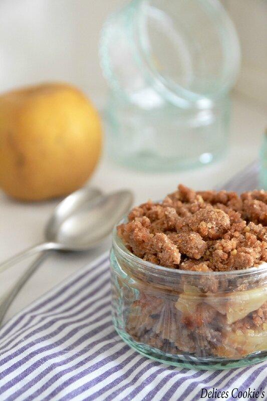 crumble pain d'épices pommes IG bas vegan