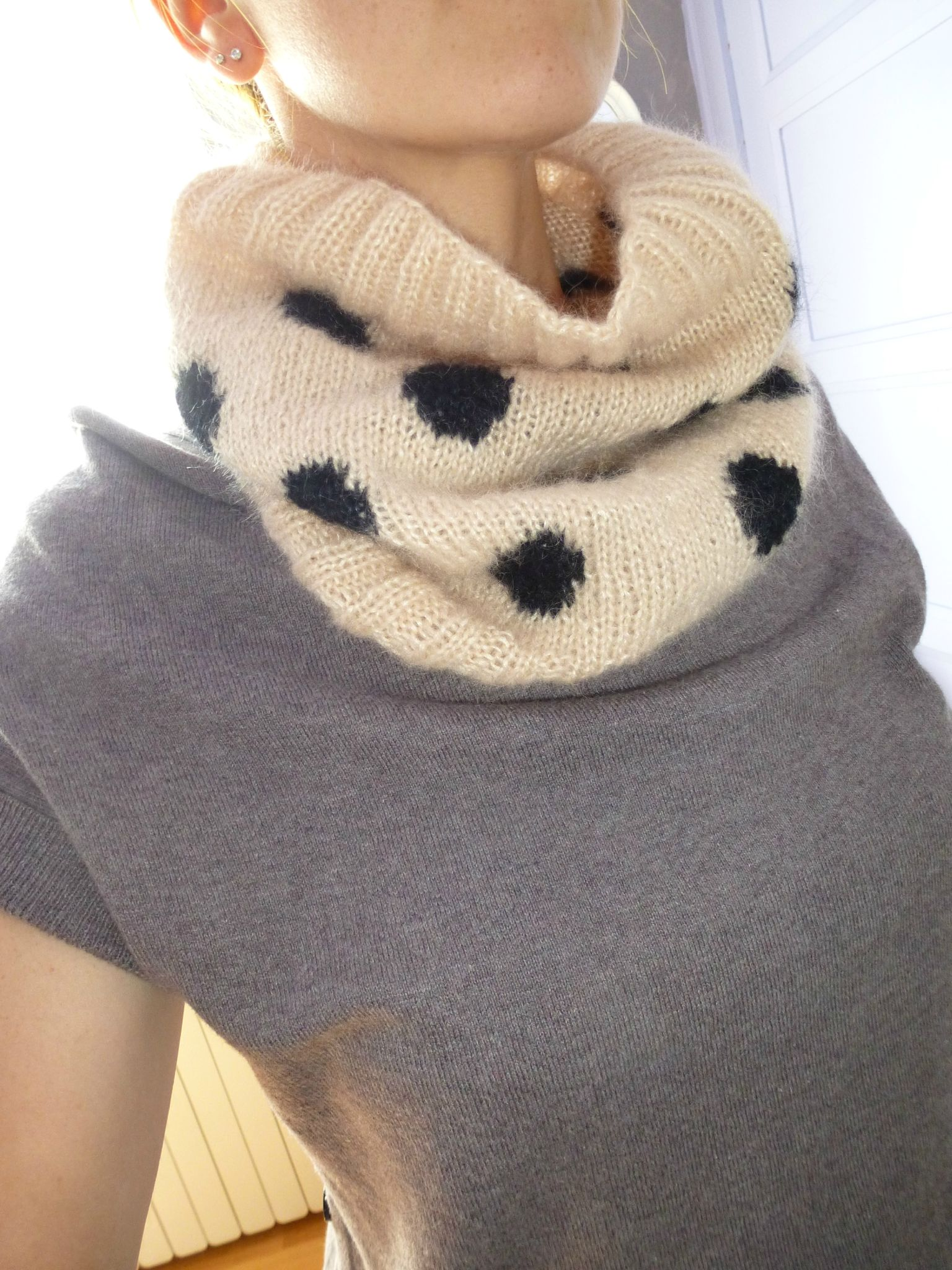 snood à pois (1)