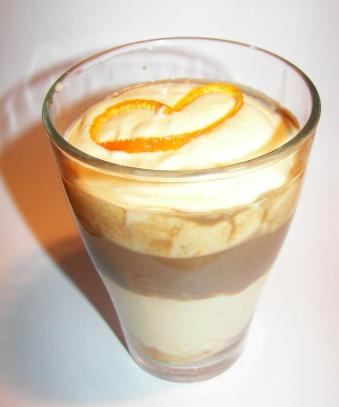 Tiramisu chocolat au lait,orange et cannelle