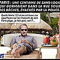 Paris : des sans-abris évacués de force par la police
