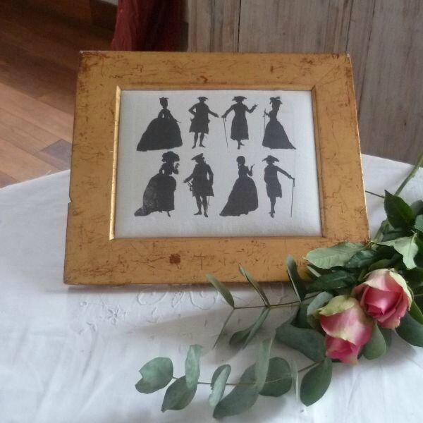 Cadresilhouettes photo de objets d co et brocante la vente l 39 esprit des lumi res - L esprit des lumieres ...