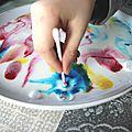Peinture et lait magique