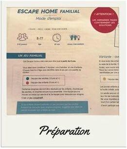 Mode d'emploi Escape Home ©Kid Friendly