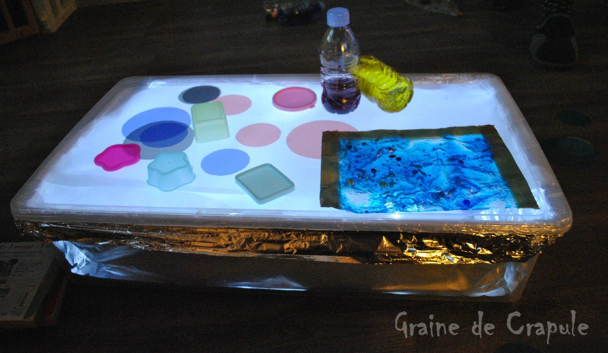 D couverte de la table lumineuse graine de crapule for Table lumineuse