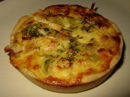 Tartelette quiche crevettes pétoncles et cottage cheese