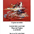 affiche expo Lacoste 2016