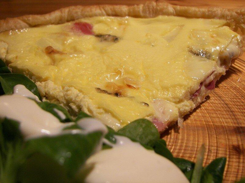 Tarte morbier/jambon