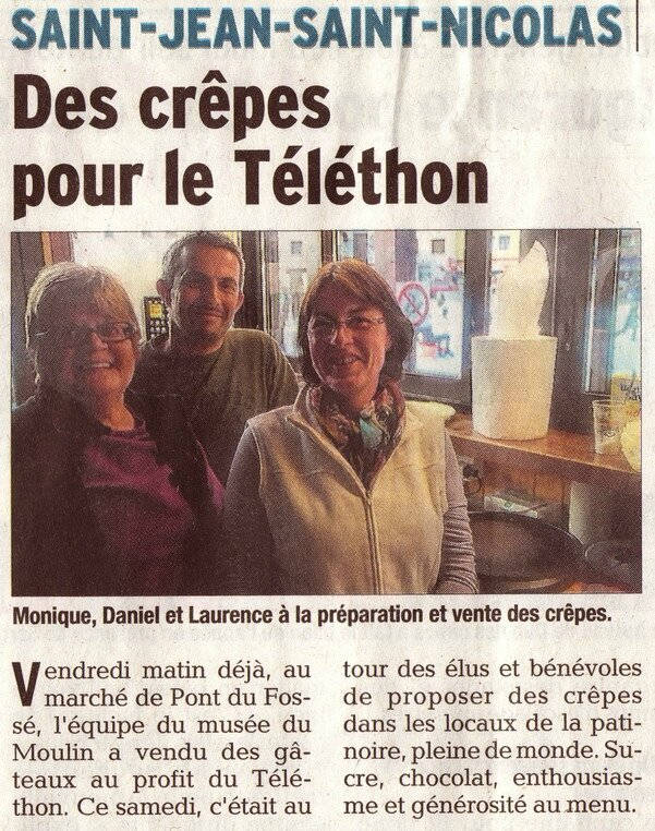 telethon dauphine 9 12 16