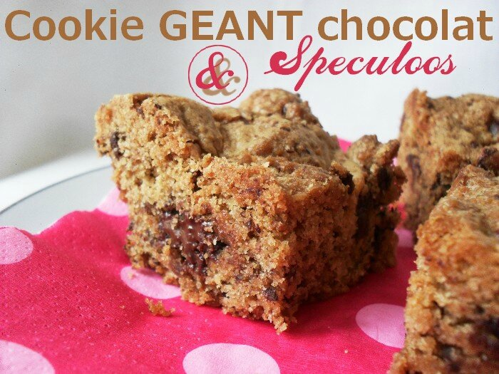 Cookie géant Chocolat - speculoos 1