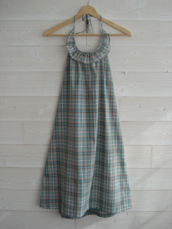Robe N en Marie-Galante couleur turquoise écorse...