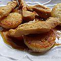 Aiguillettes de poulet au caramel d'orange