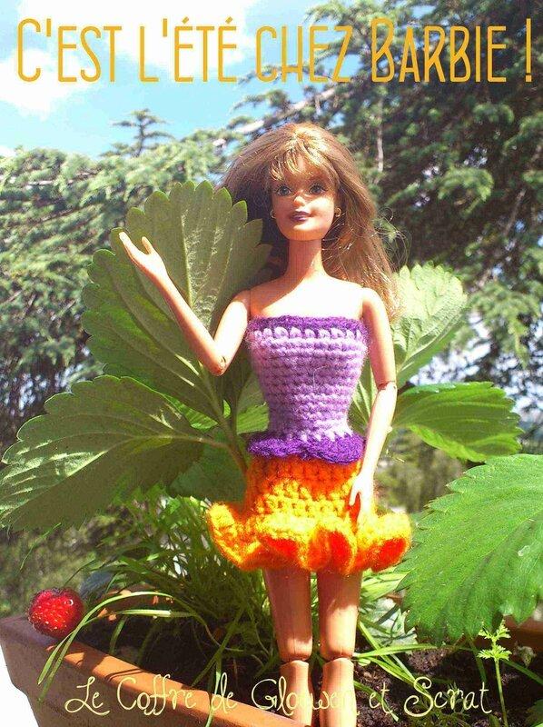 Tenue de barbie au crochet - c'est l'été (1)