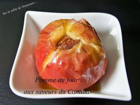 Pomme au four aux saveurs du canada 1