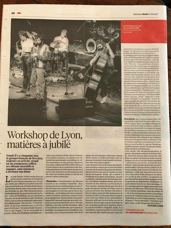 Workshop de Lyon - articles
