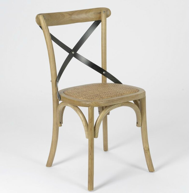 Chaise bistrot meubles et d coration amadeus au grenier for Chaise bistrot cannee bois