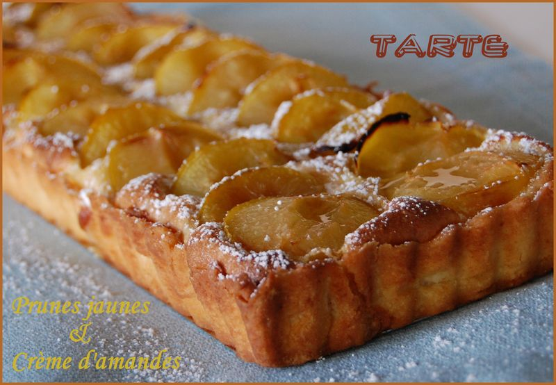tarte aux prunes jaunes sur cr me d 39 amandes sans gluten les carnets de miss diane. Black Bedroom Furniture Sets. Home Design Ideas
