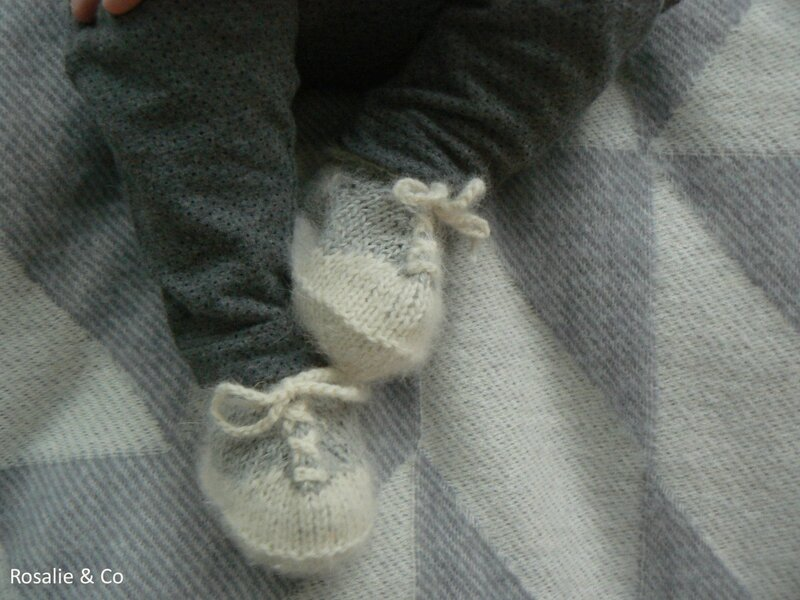 chaussons baskets tricot