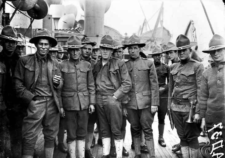 Américains 1917 St Nazaire