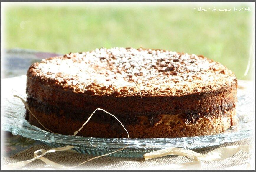"""ღ """" Miam """" Gâteau caramel et noix de coco"""