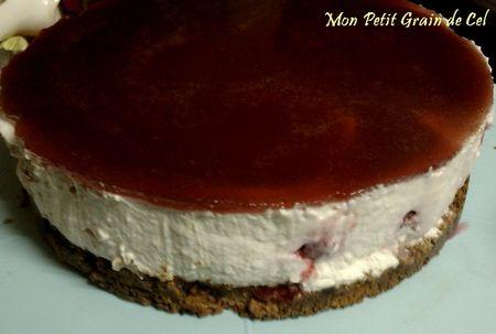 Cheesecake sans cuisson aux framboises sucre cel - Cheesecake framboise sans cuisson ...