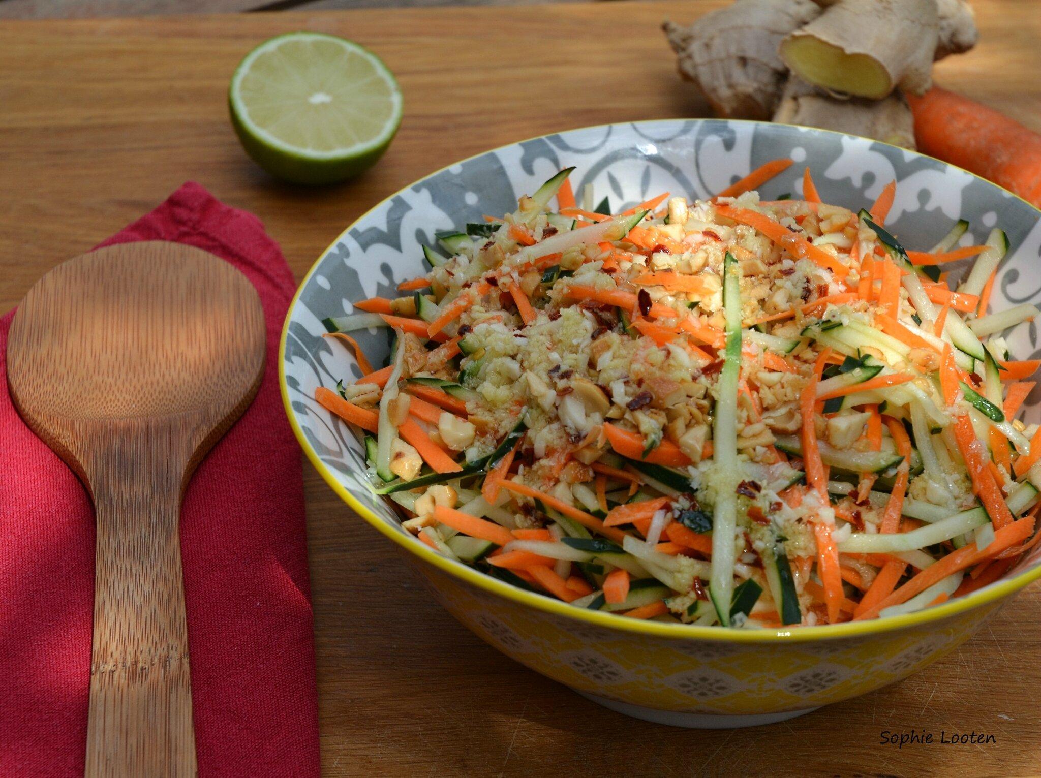 Salade de concombre et carotte à la thaïlandaise