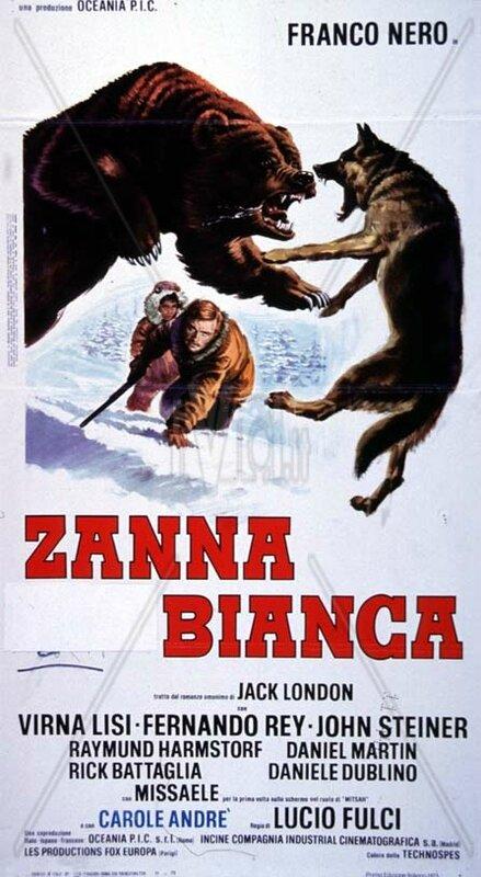 Affiche film Zanna Bianca de Lucio Fulci 1973