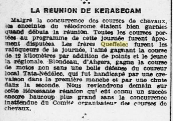 Ouest Eclair 1923 le 11 juin frères Queffelec_2