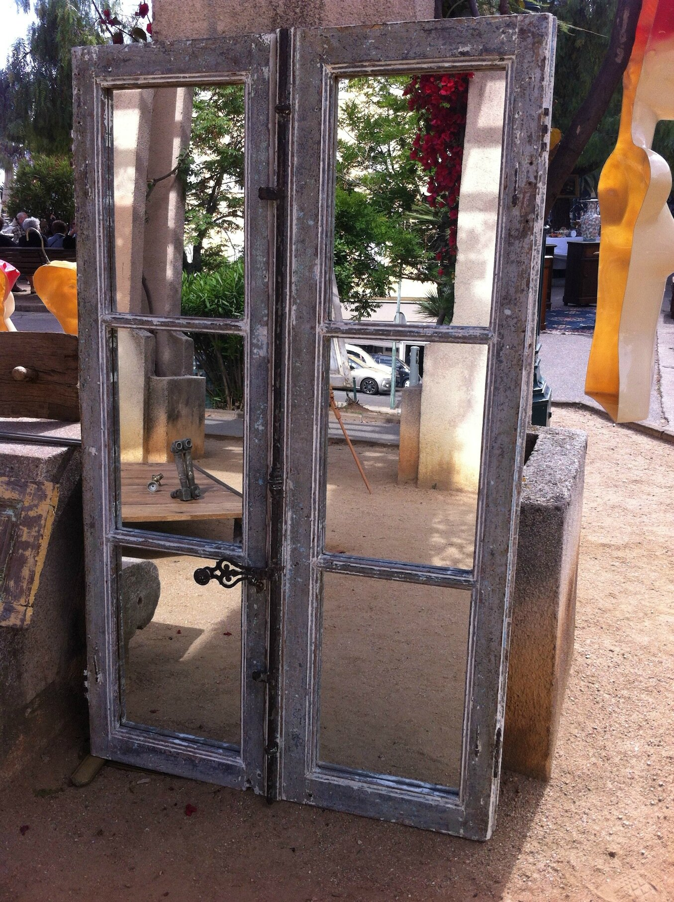 Miroir fen tre ancienne photo de juin 2014 l 39 atelier for Decoration fenetre ancienne