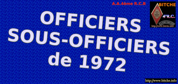 OFFICIERS sous OFFICIERS de 1972 001