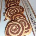 Sablés de noël: spirale infernale cacao et vanille